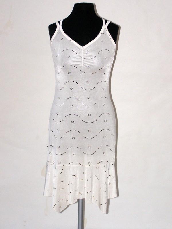 Společenské elastické ramínkové šaty 9261 Sabatti 38