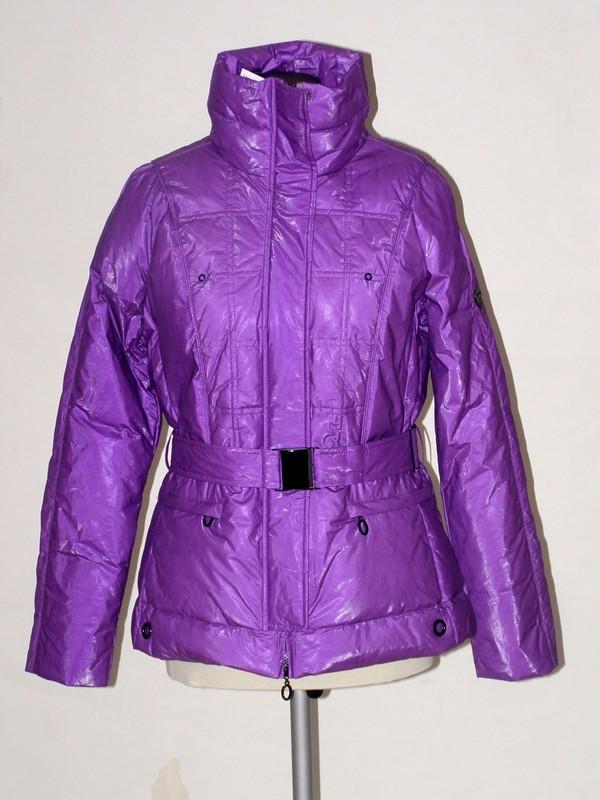 Módní fialová péřová bunda 1535 Veltex 40