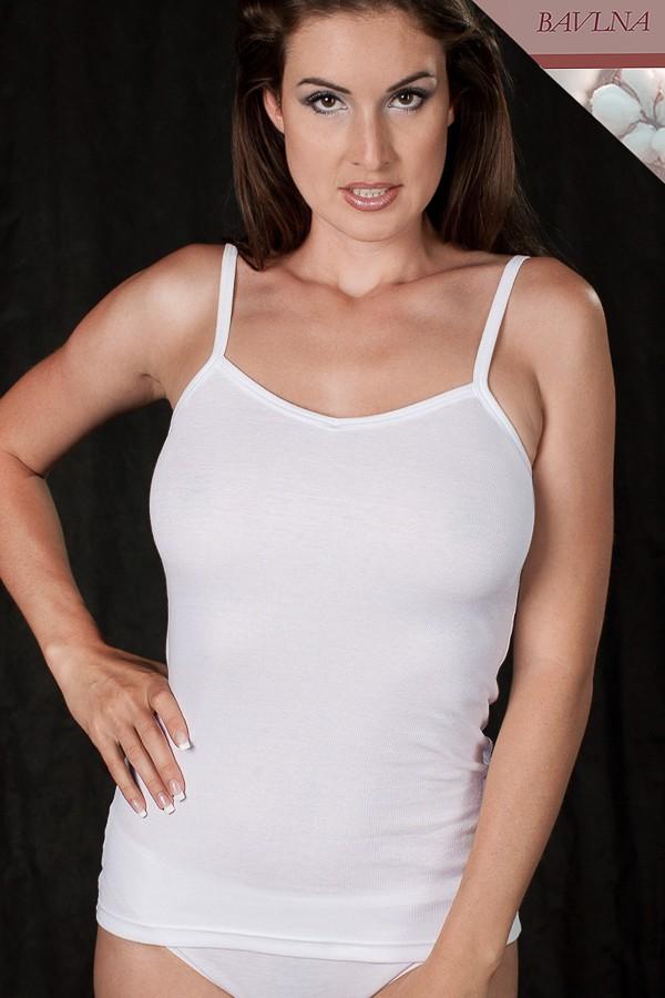 Spodní bavlněná dámská košilka na ramínka Lucie Spoltex