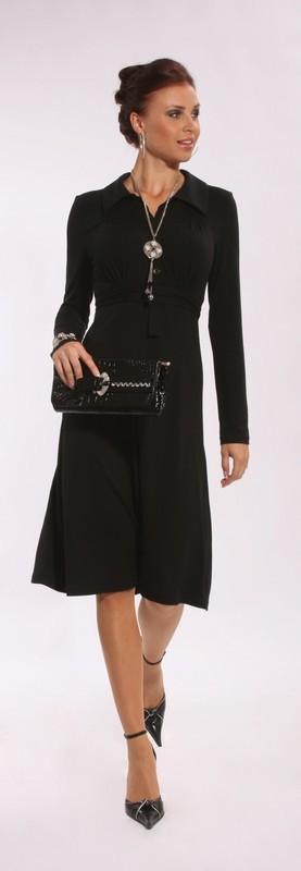 Elegantní elastické šaty s límečkem 1509 Andrea Martiny 42, 44