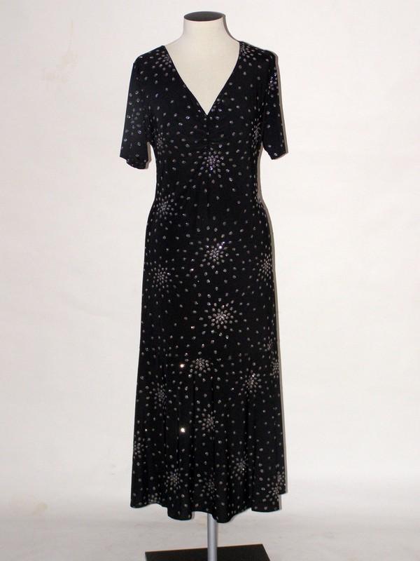 Společenské elastické šaty s krátkým rukávem 9470 Sabatti 50
