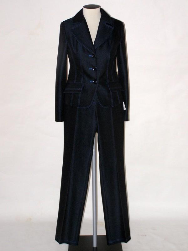 Dámský kalhotový kostým 0810 Andrea Martiny 36