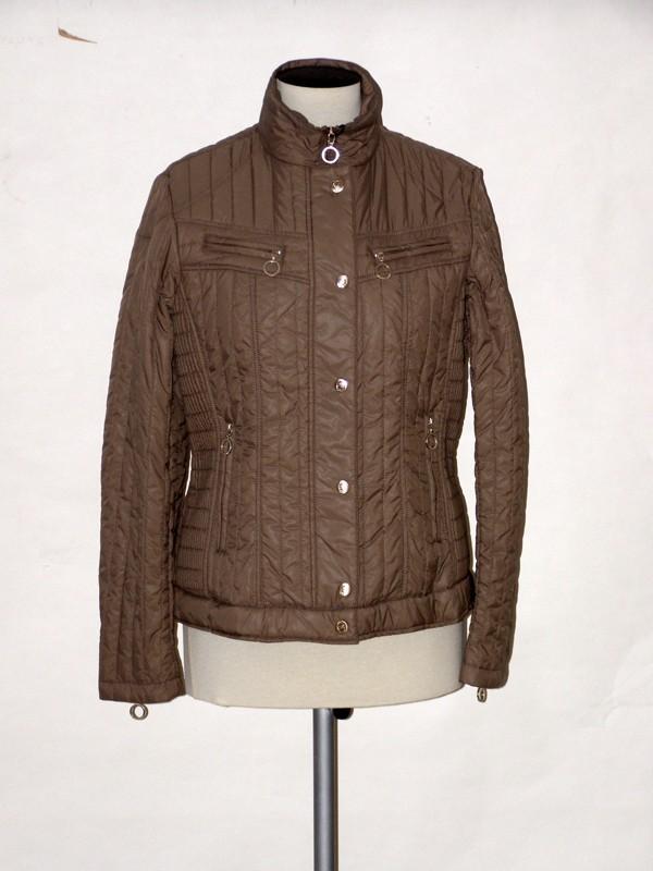 Dámská elegantní krátká jarní bunda béžová NE2005 Veltex L
