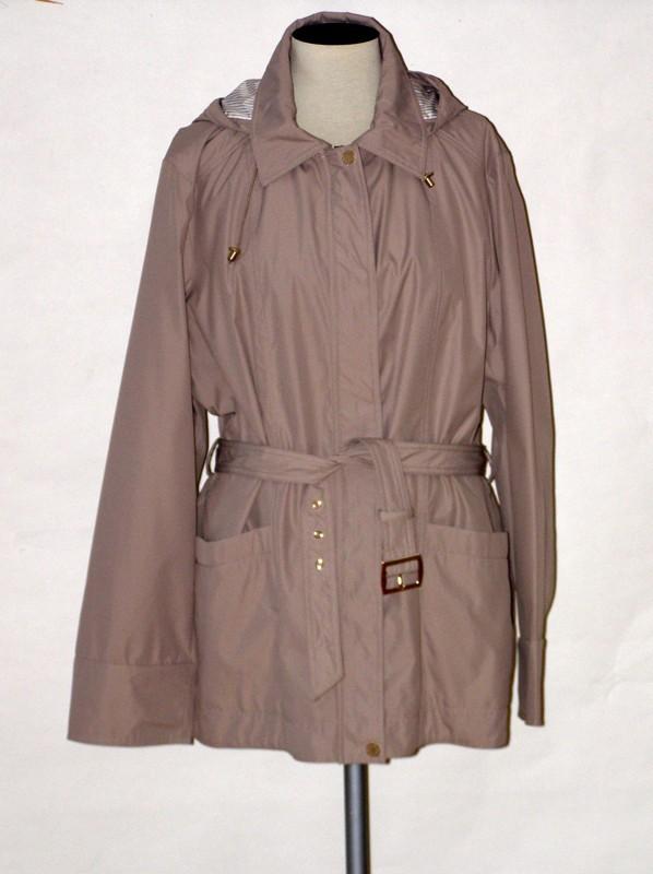 Elegantní dámská jarní bunda BE2014 Veltex béžová 50, 52