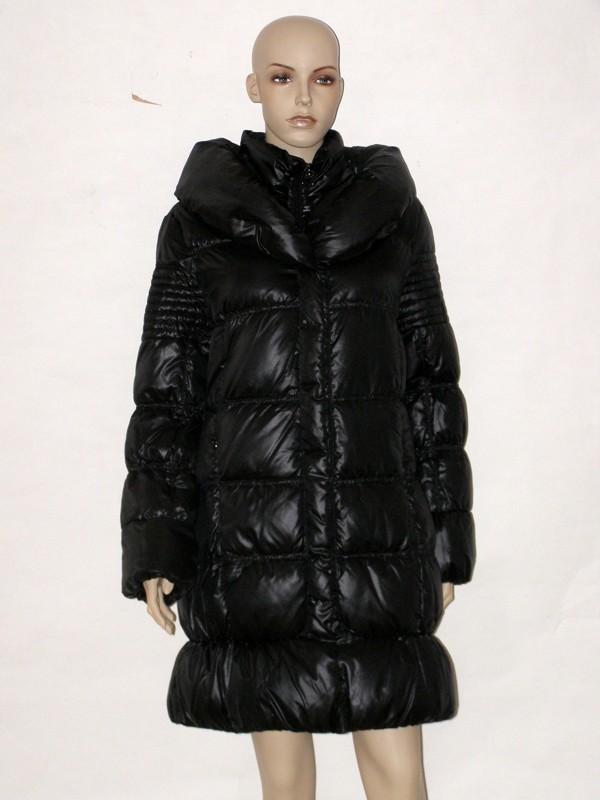 Černý péřový prošívaný kabát RI5005 Veltex 42