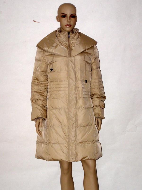 Béžový péřový zimní kabát NI5207 Veltex 42