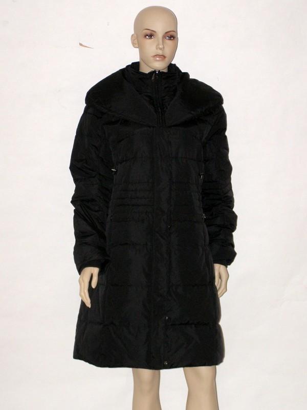 Černý péřový prošívaný kabát NI5207 Veltex 46
