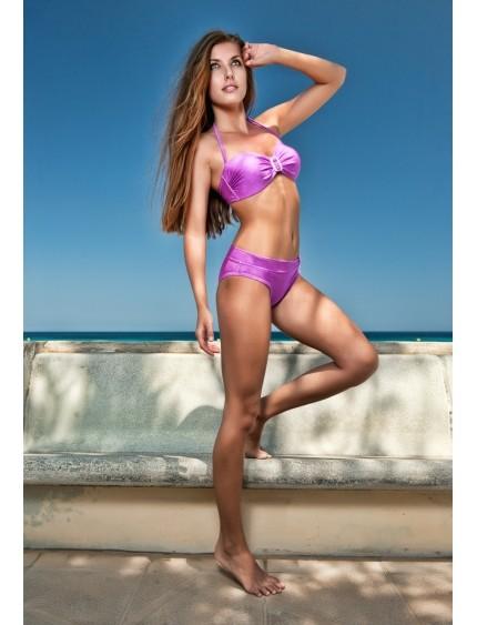 Fialové módní plavky bez ramínek BANDEAU 8516 timo 85 B