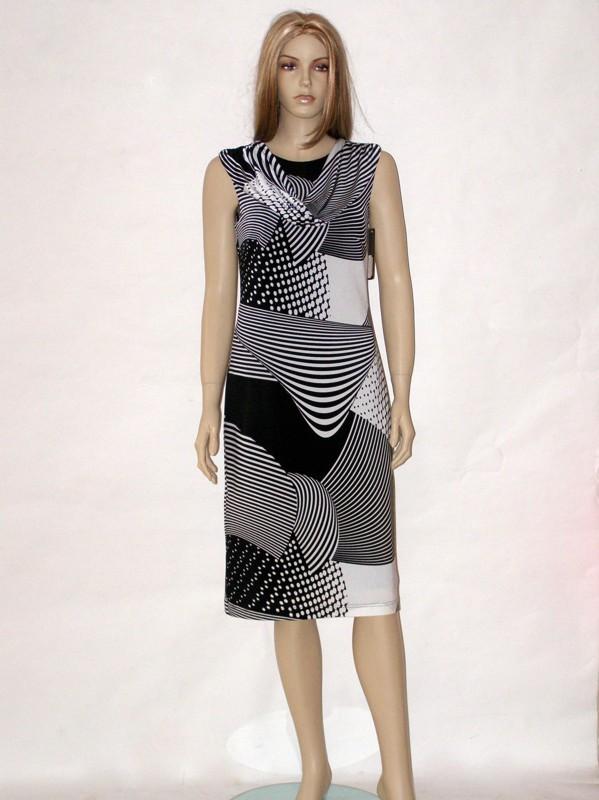 Černo bílé letní společenské šaty 5013 Andrea Martiny 40, 42