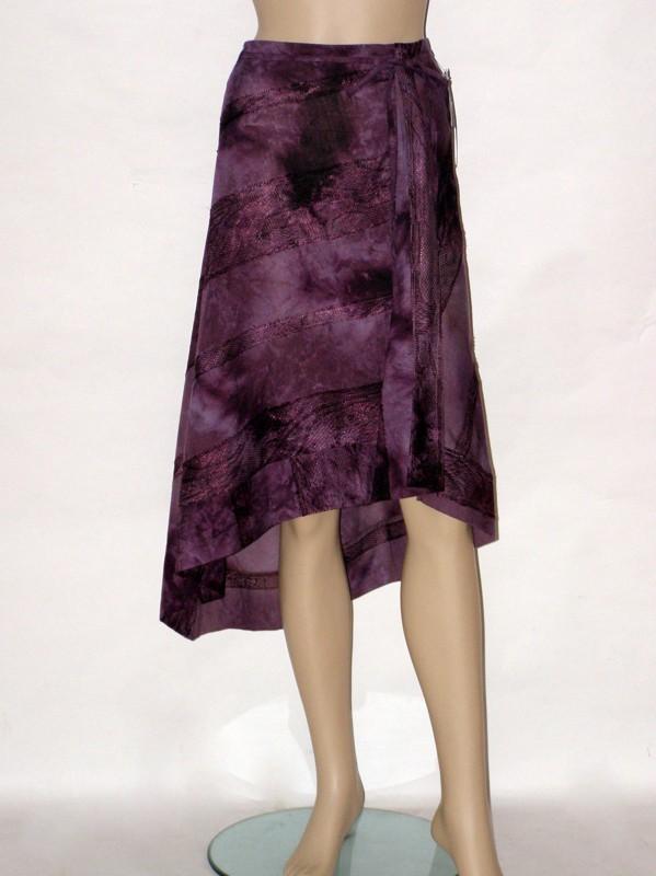 Fialová letní cípatá sukně 1006 Andrea Martiny 44