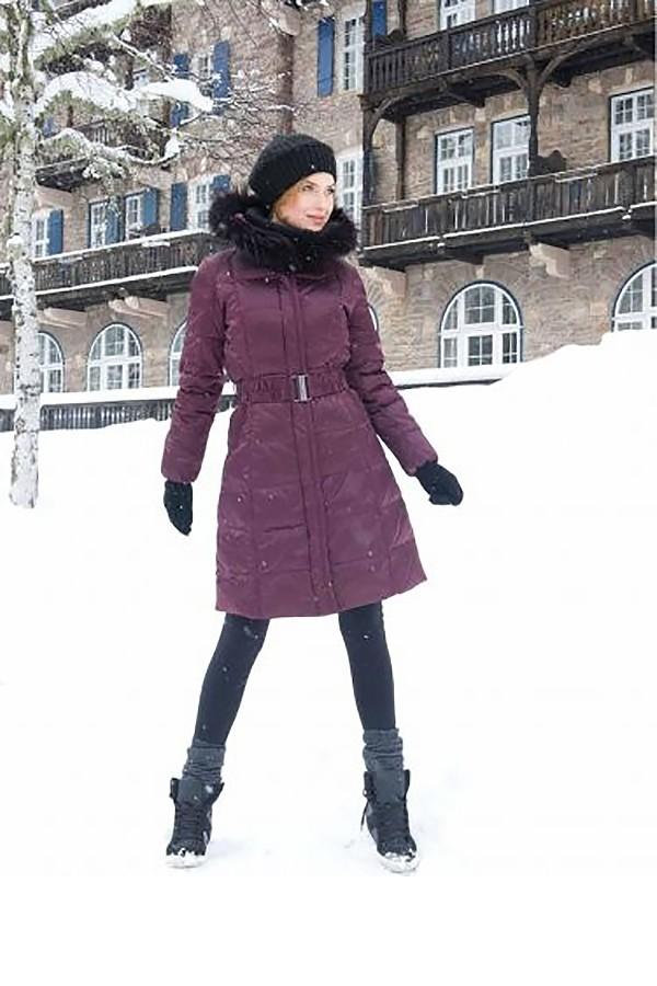 Vínový péřový kabát CI6203 Veltex 40, 42