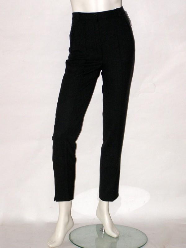 Černé úzké zimní kalhoty 720801 Izabela 36