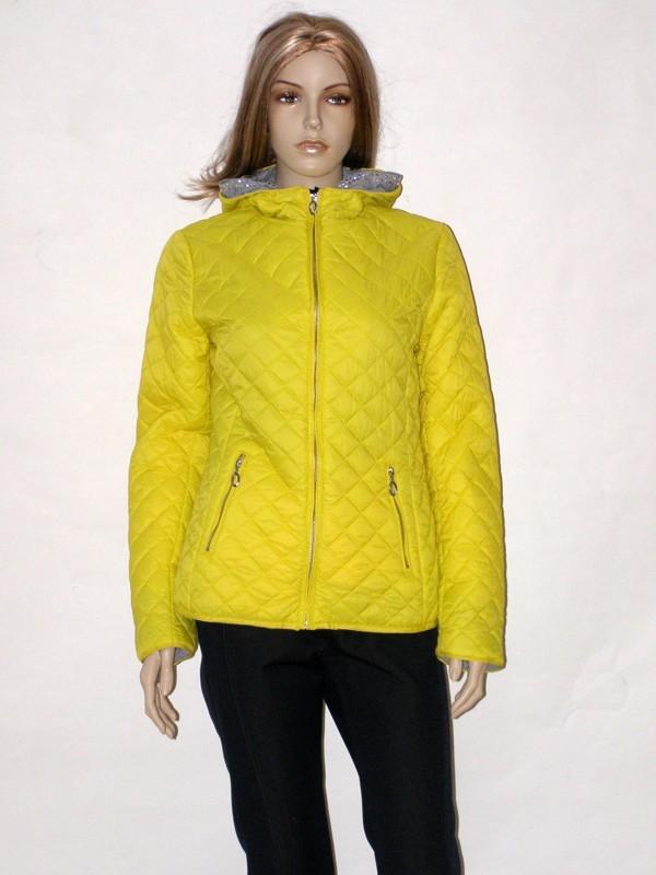 Žlutá jarní prošívaná bunda AE1502Z Veltex 38