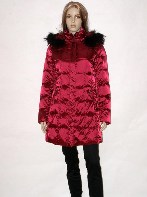 Vínově červený prošívaný zimní kabát 7204 Veltex 36