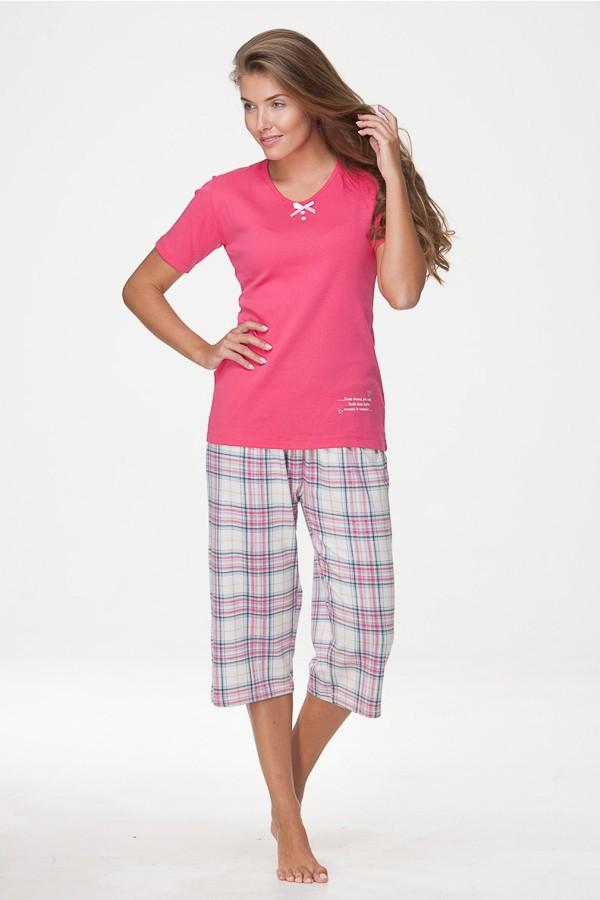 Růžové, smetanové dámské pyžamo 38275 Timo L
