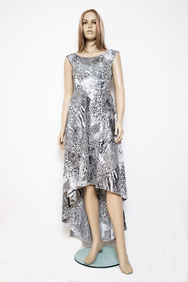 Černo bílé společenské dlouhé šaty 0915 Andrea Martiny 38
