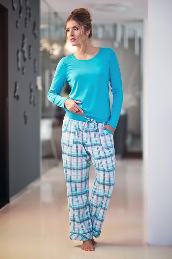 Tyrkysové pyžamo s dlouhým rukávem 380304 Timo S, M, L
