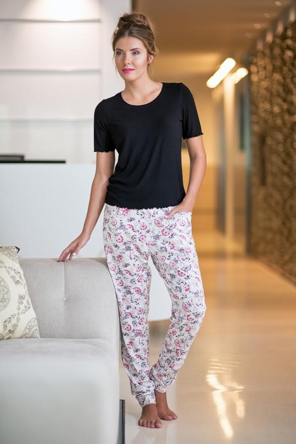 Dámské pyžamo s krátkým rukávem 380315 Timo S, L