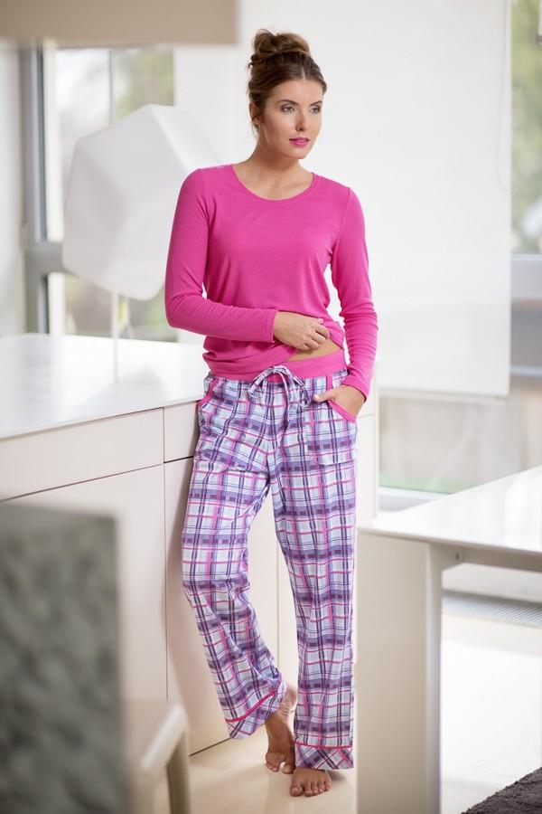 Růžové pyžamo s dlouhým rukávem 380308 Timo S, M, L