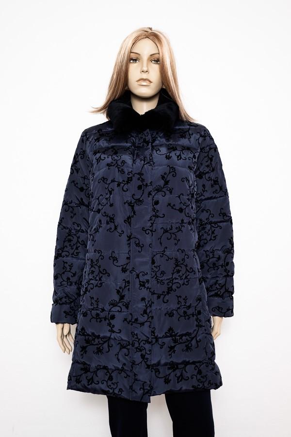 Antracitově černý, černý prošívaný zimní kabát 2102 Veltex 44, 46