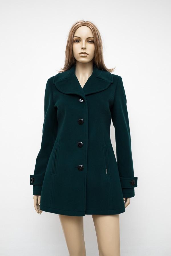 Zelený krátký flaušový kabát 1516 Andrea Martiny 38