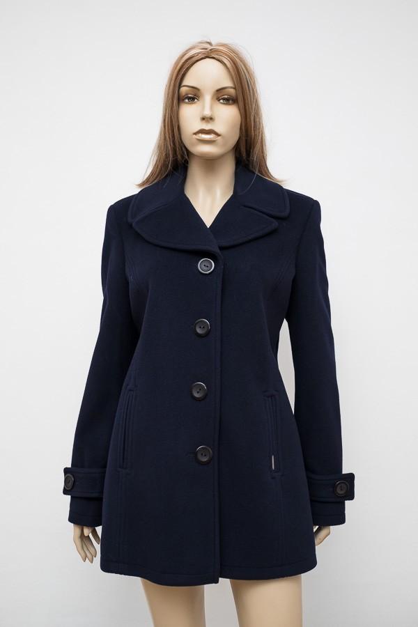 Modrý krátký flaušový kabát 1516 Andrea Martiny 44