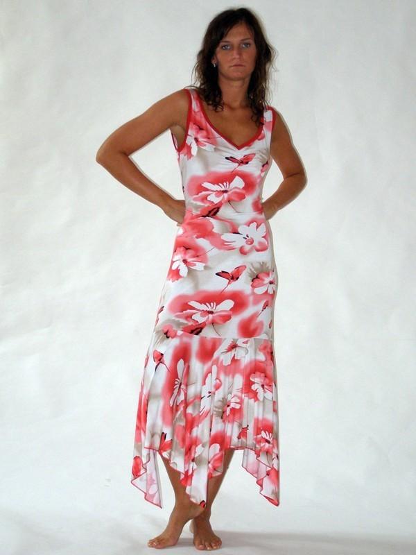 Dlouhé letní elastické šaty 7080 Sabatti 40, 42