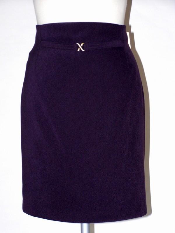 Fialová elastická úzká sukně 924900 Izabela 44