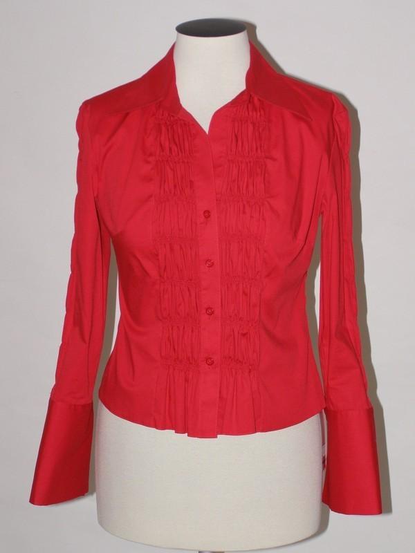 Červená košile z elastické bavlny 38